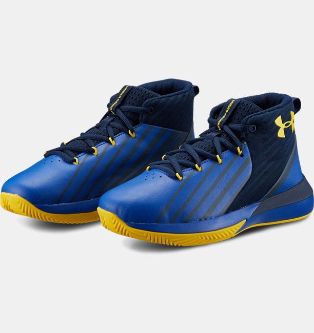 Boys Grade School UA Lockdown 3 Wide Basketball Shoes