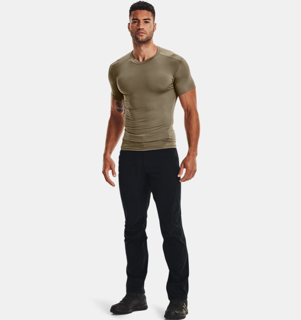 Mens Tactical HeatGear® Compression Short Sleeve T-Shirt