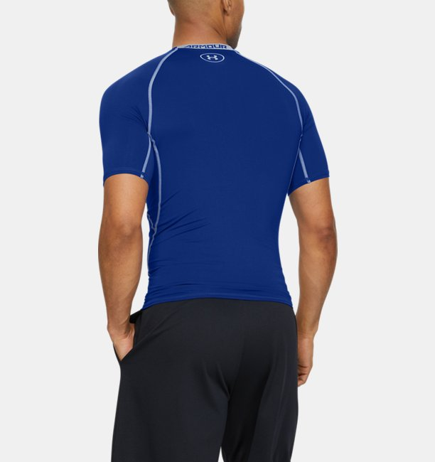 Herenshirt UA HeatGear® Armour Compression met korte mouwen