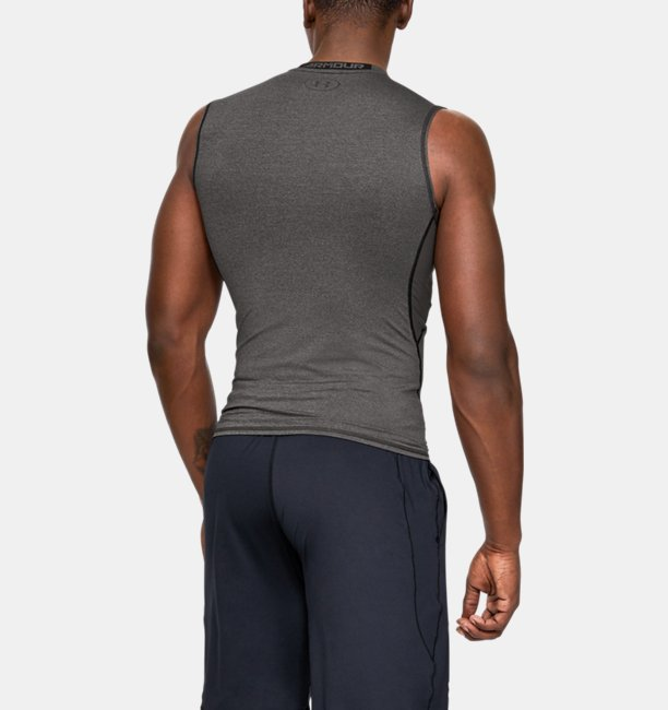 Herenshirt HeatGear® Armour Compression zonder mouwen