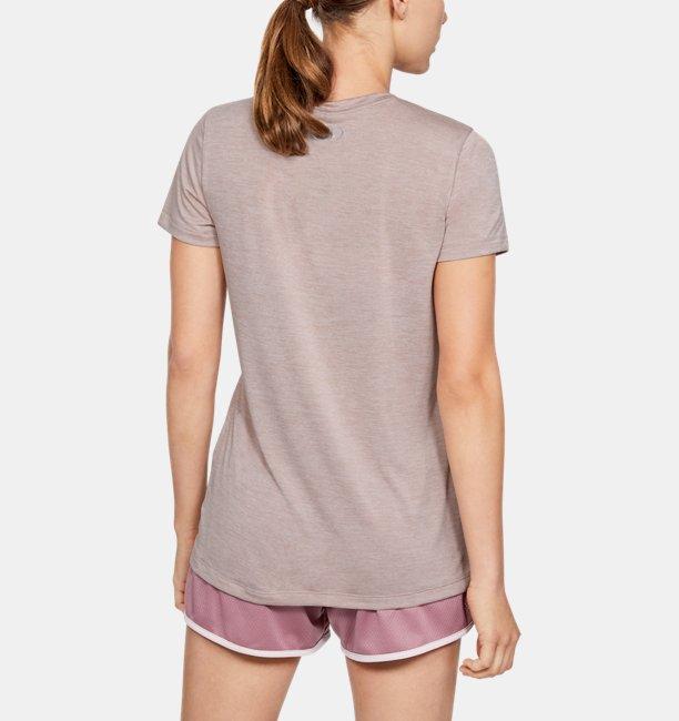 Dames T-shirt UA Twist Tech™ met V-hals