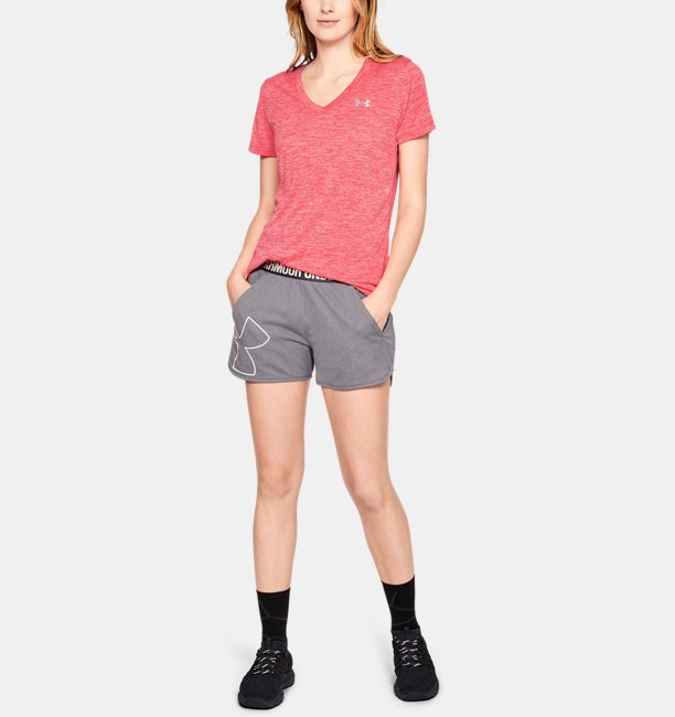 UAテック ショートスリーブ V ネック ツイスト(トレーニング/Tシャツ/WOMEN)