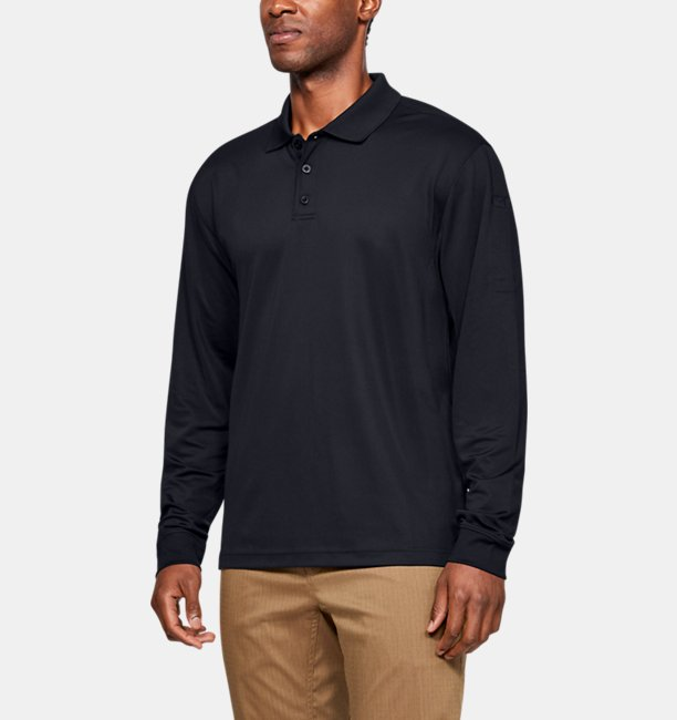 Mens UA Tactical Performance Long Sleeve Polo