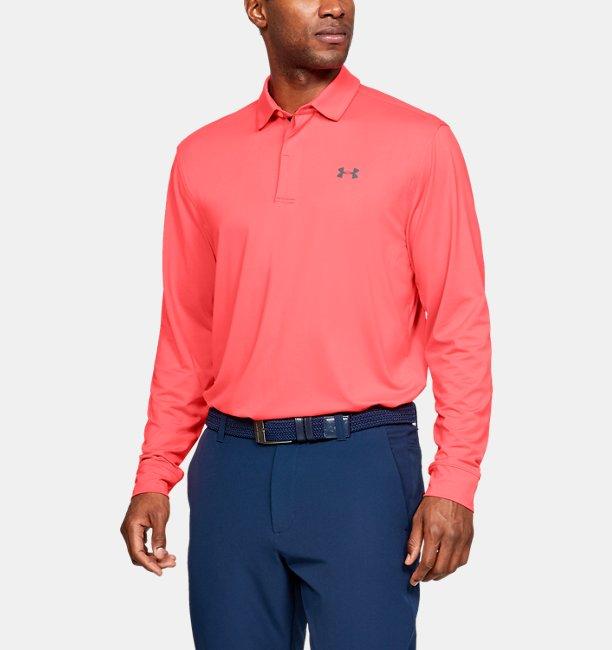 Mens UA Playoff Long Sleeve Polo