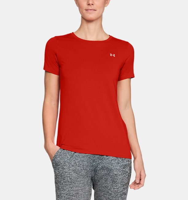 Damen-Shirt UA HeatGear® Armour, kurzärmlig