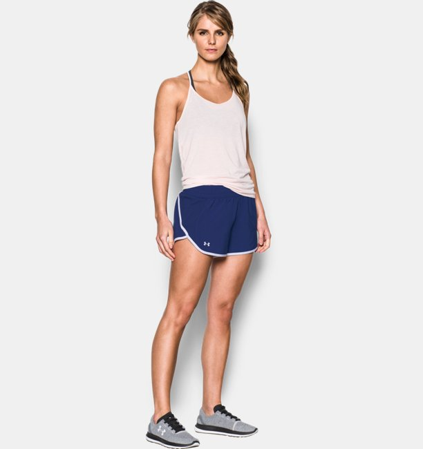 Womens UA Launch Tulip Shorts