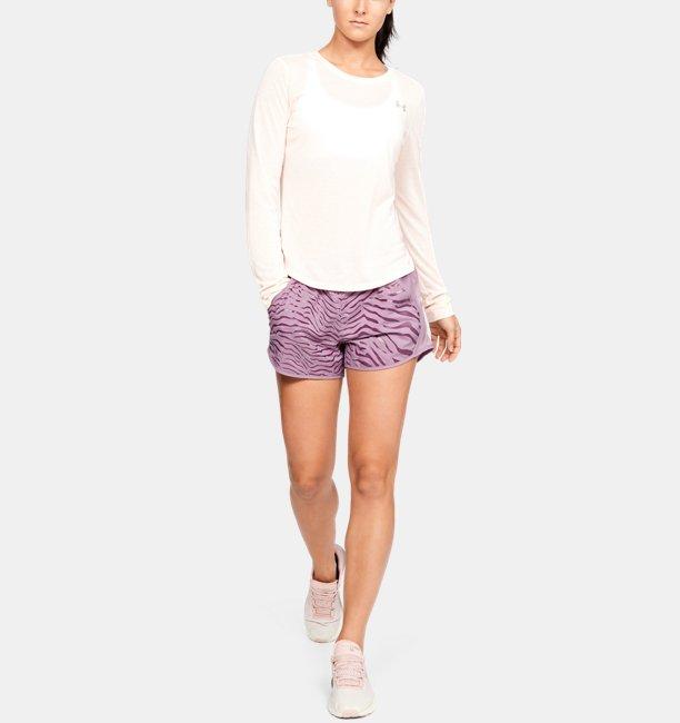Celana Pendek UA Fly-By Printed untuk Wanita