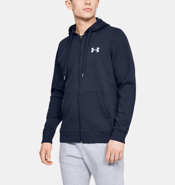 Mens UA Rival Fleece Fitted Full Zip Hoodie
