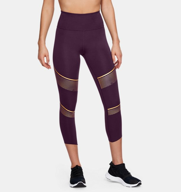 Womens UA Breathelux Metallic Crop