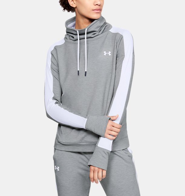 Damen Fleece-Pullover UA Feahtherweight, mit Trichterkragen   Under ... 01ee75b128