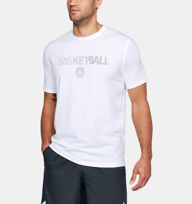 Camiseta UA Basketball Wordmark Masculina