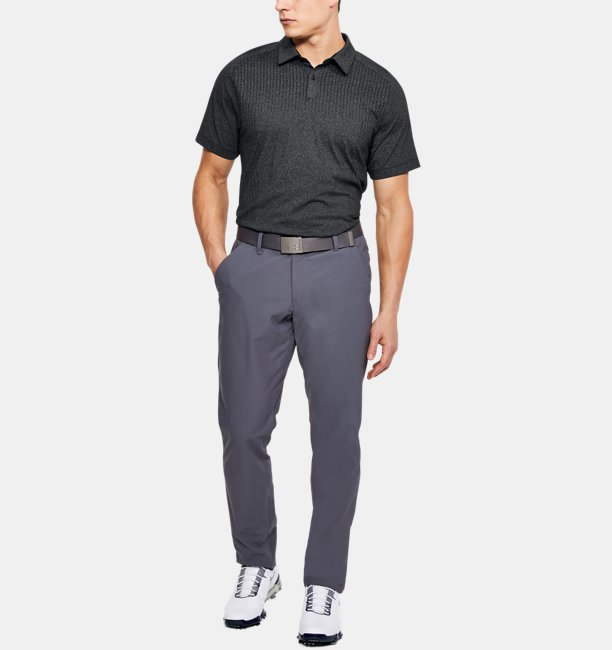 Mens UA Threadborne Outer Glow Polo