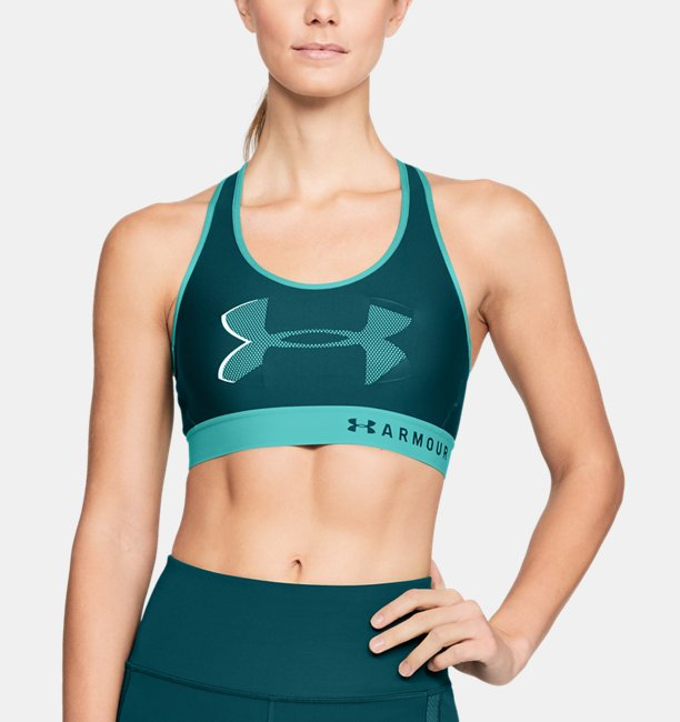 Women's Armour®Â Mid Big Logo Sports Bra