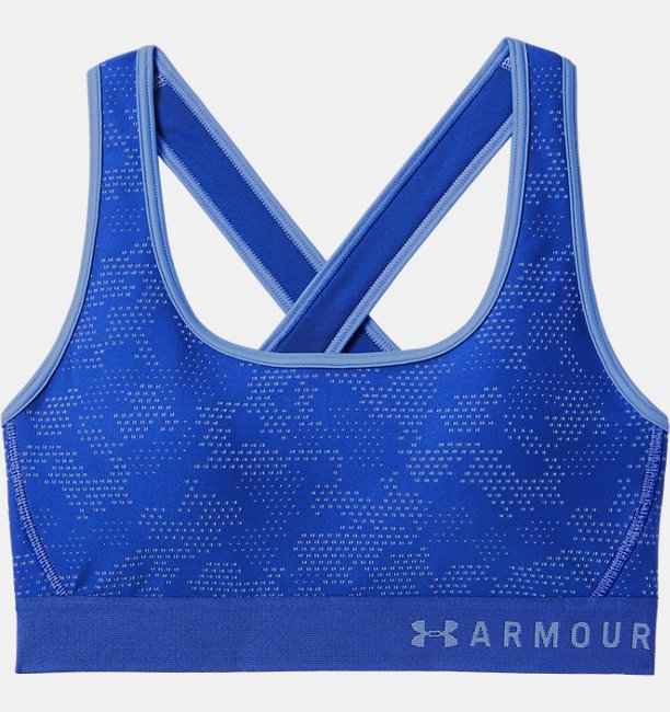 3133684af3 Women s Armour® Mid Crossback Patterned Sports Bra