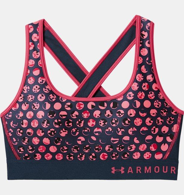 Sostén deportivo estampado Armour® Mid Crossback para Mujer