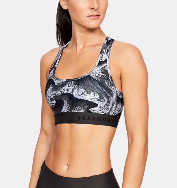 Womens Armour® Mid Crossback Print Sports Bra
