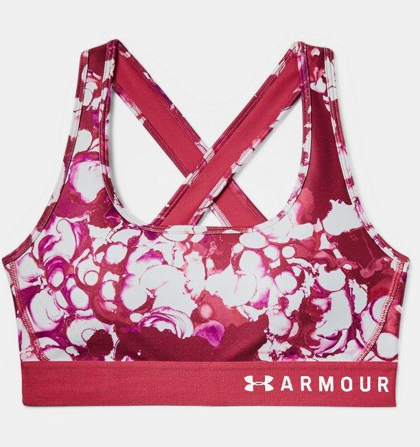 Womens Armour® Mid Crossback Print Sports Bra