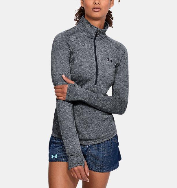 8f19e1f2c7e Blusa ½ Zip UA Threadborne™ Twist Feminina