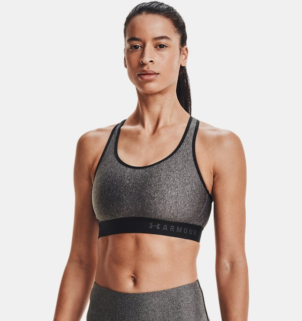 Womens Armour® Mid Heathered Sports Bra