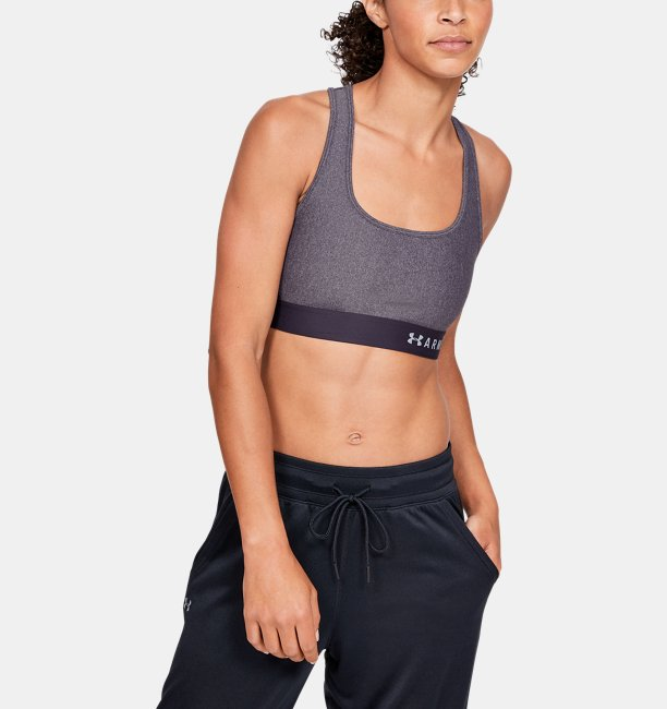 Womens Armour® Mid Crossback Heathered Sports Bra
