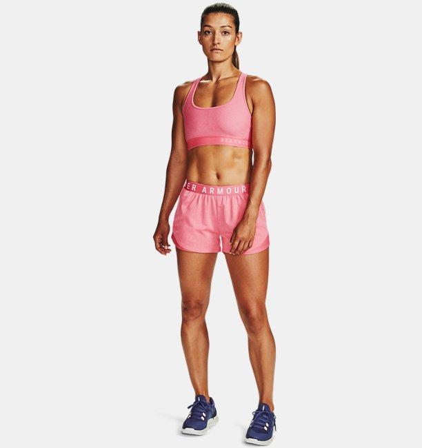 Womens Armour® Mid Crossback Heathered Sports Bra