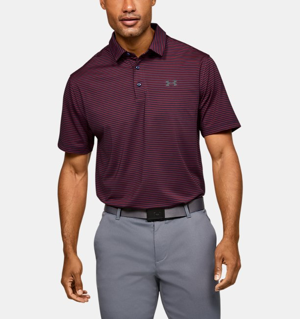Mens UA Playoff Core Stripe Polo