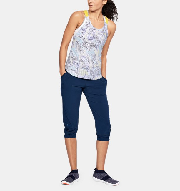 Womens UA Armour Sport Strappy Print Tank