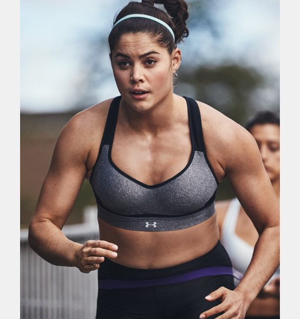 Womens HeatGear Armour® High Heathered Support Sports Bra