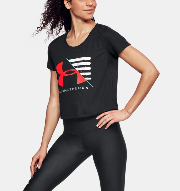 Camiseta UA Run Vanguard Boxy Feminina
