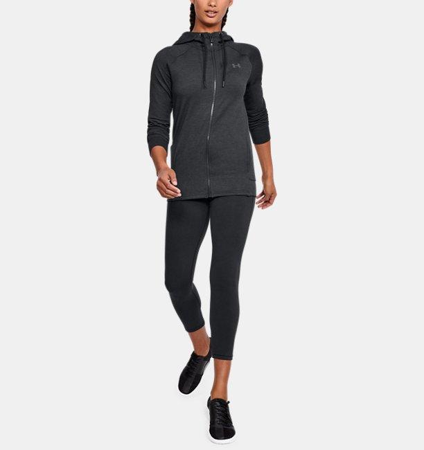 Moletom UA Featherweight Fleece Full Zip Feminino