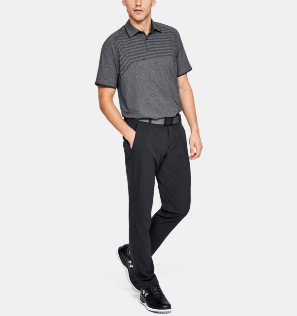 Mens UA Vanish Cross Hatch Polo