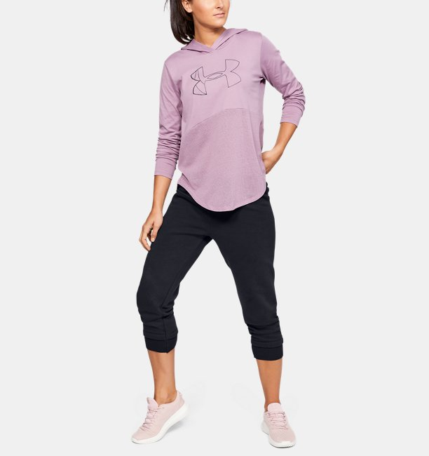 Damen UA Rival Fleece-Crop-Hose