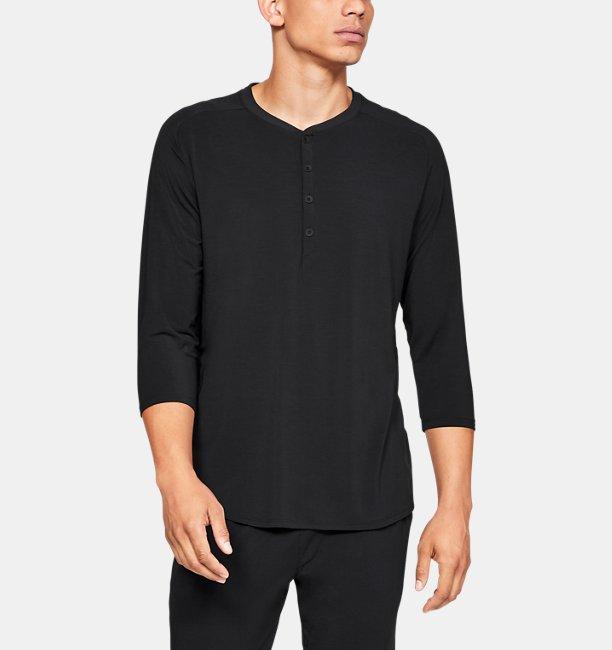 Mens UA Recover Sleepwear Ultra Comfort  3/4 Henley Shirt