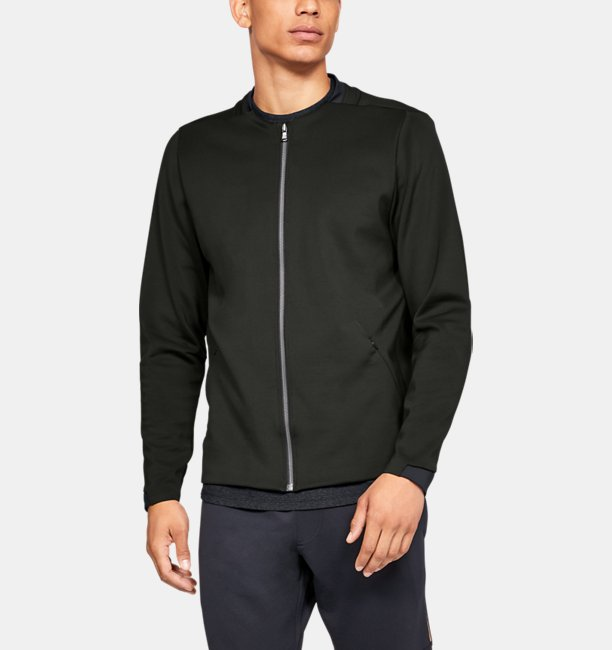 Mens UA Recover Track Suit Elite Bomber Jacket