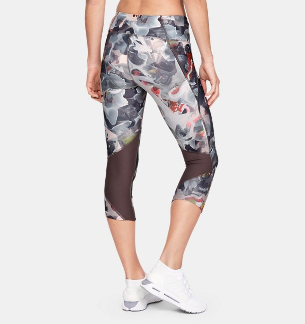 Womens UA Armour Fly Fast Printed Capri