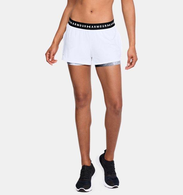 Women's HeatGear® Armour 2-in-1 Printed Shorts