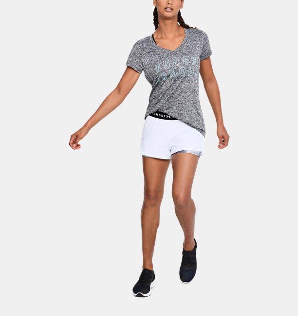 Shorts 2 em 1 HeatGear® Armour Printed Feminino