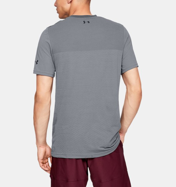 Mens UA Vanish Seamless Short Sleeve V-Neck