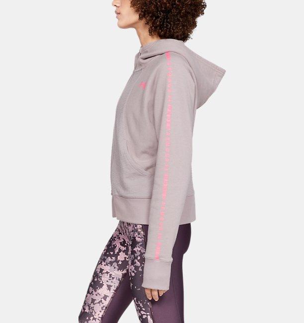 Damesshirt UA Microthread Fleece Graphic met volledige rits
