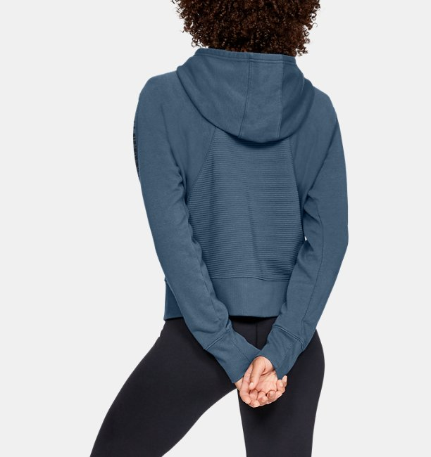 Womens UA Microthread Fleece Graphic Full Zip