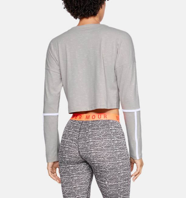 Womens UA Lighter Longer Cropped Crew