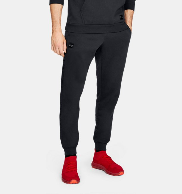 Mens UA Rival Fleece Script Joggers