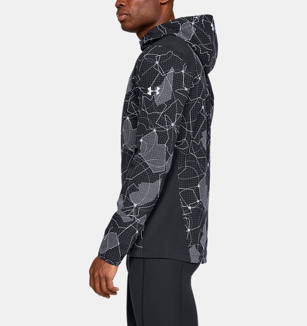 Mens UA Outrun The Storm Printed Jacket