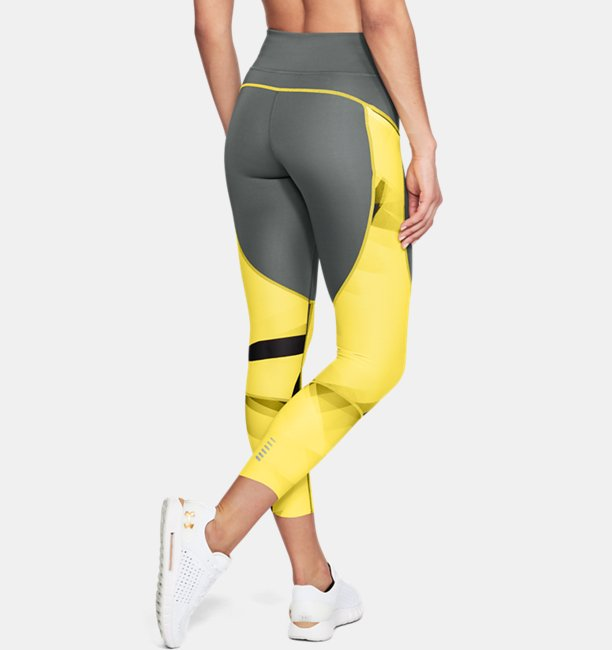 Womens UA Speedpocket Run Printed Crop