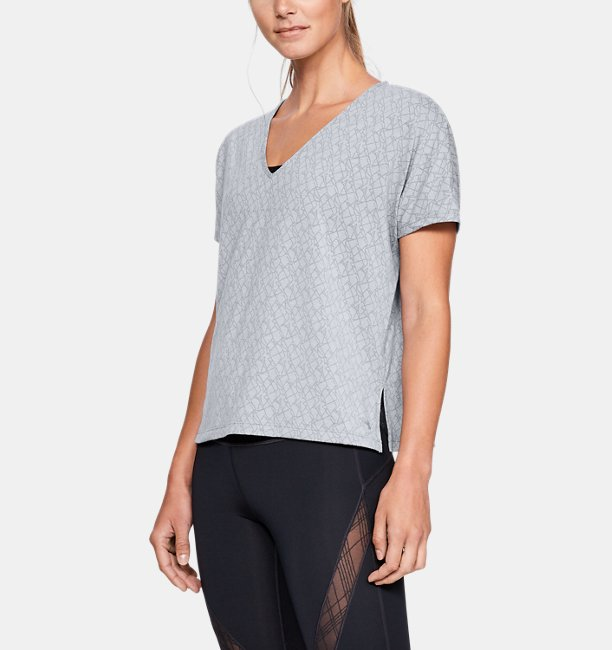 Womens UA Misty Burnout Short Sleeve