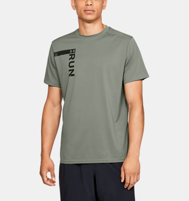 Mens UA Run Tall Graphic T-Shirt