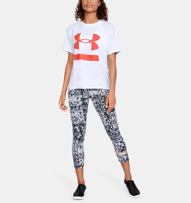 UA Big Logo Girlfriend Crew Feminina