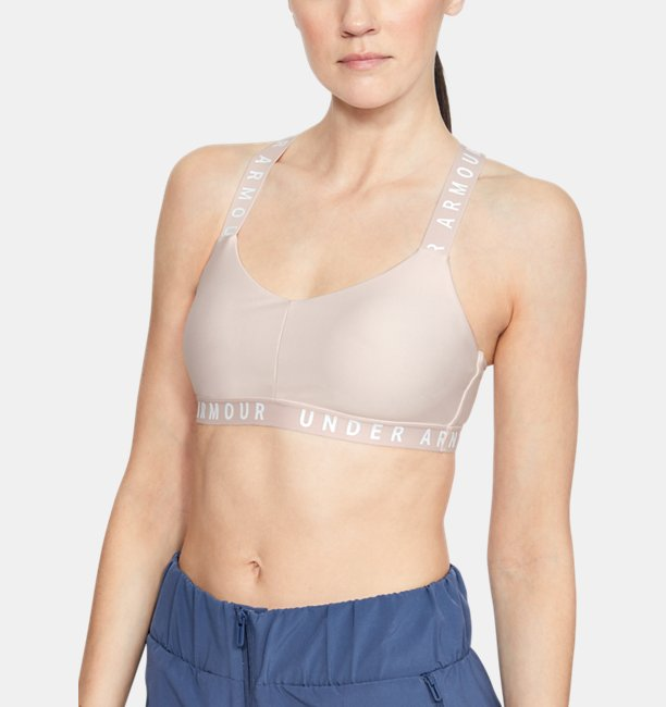 Womens UA Wordmark Strappy Sports Bralette Bra
