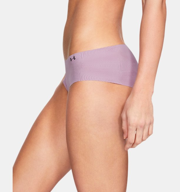 Womens UA Pure Stretch Hipster Underwear Print 3-Pack