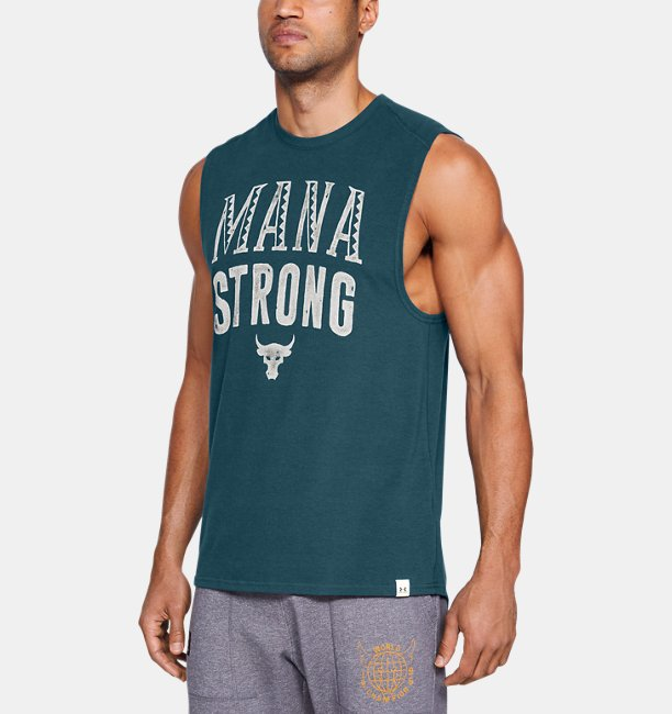 Camiseta Regata UA x Project Rock Mana Strong Masculina